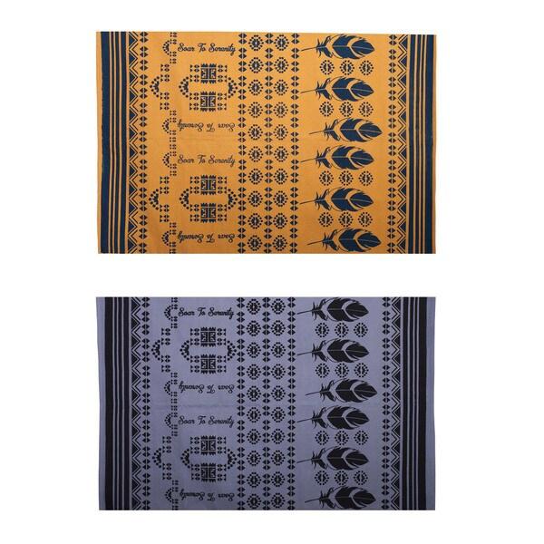Handmade Soar to Serenity Yoga Mat (India)