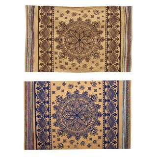 Mystical Lotus Mandala Mat with Recycled Silk