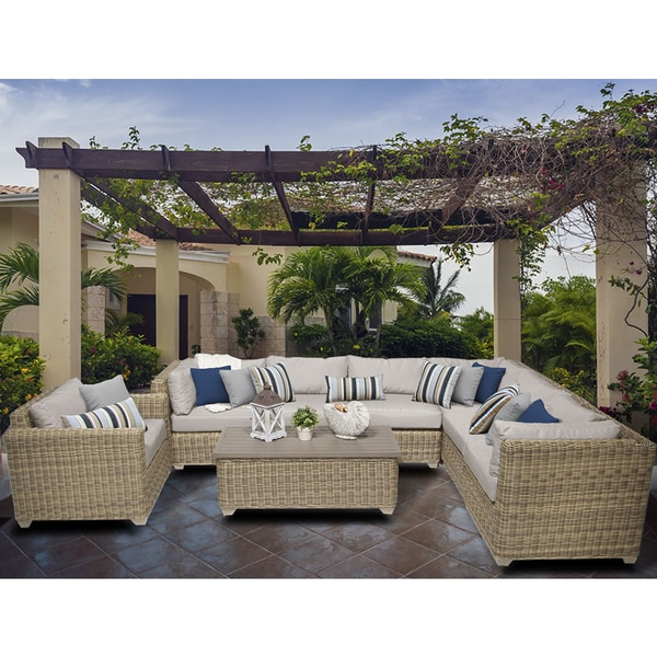 Shop Cape Cod 8 Piece Outdoor Wicker Patio Furniture Set