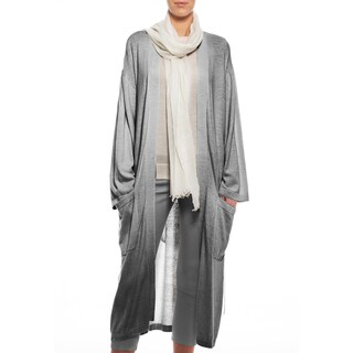 MILA Women's Cashmere Trench-Style Robe