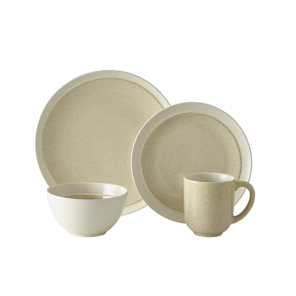 Mikasa Gourmet Basics Jocelyn Cream 16-piece Dinnerware Set (Service for 4)  sc 1 st  Overstock.com & Mikasa Gourmet Basics Jocelyn Cream 16-piece Dinnerware Set (Service ...