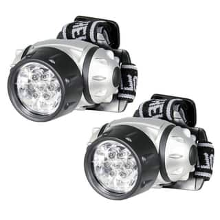 Hands Free 7 LED Adjustable Head Strap Super Bright Head Lamp Pivoting Light (Pack of 2)|https://ak1.ostkcdn.com/images/products/15274416/P21744456.jpg?impolicy=medium