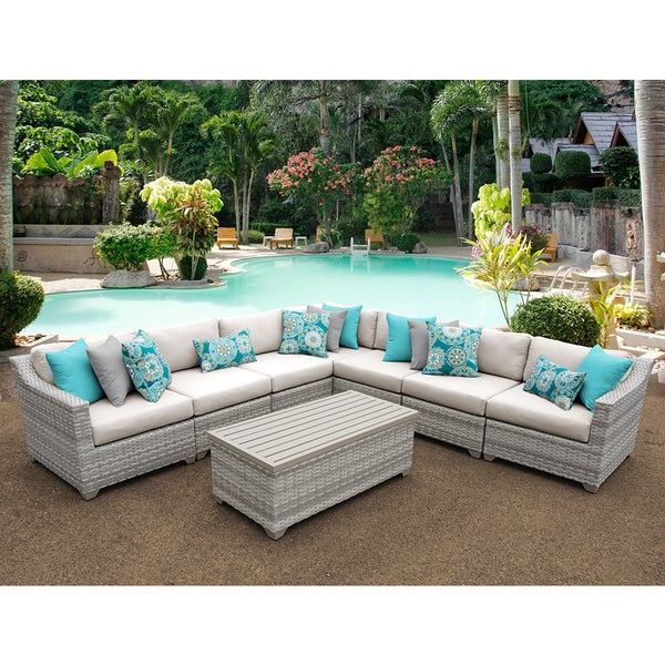 Fairmont Patio Furniture.Shop Fairmont 8 Piece Outdoor Wicker Patio Furniture Set 08a Free
