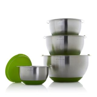 Wolfgang Puck 8-piece Stainless Steel Mixing Bowl Set with Silicone Bases