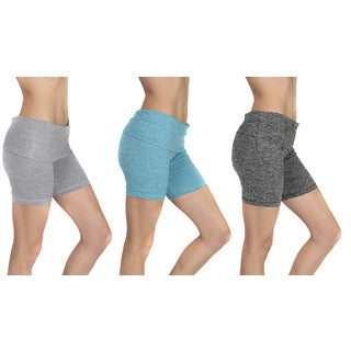 Women's Mesh Waistband Yoga Shorts