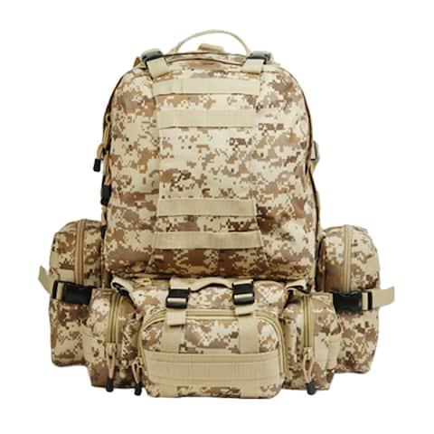 Outdoor Climbing Backpack (Brown Camo)