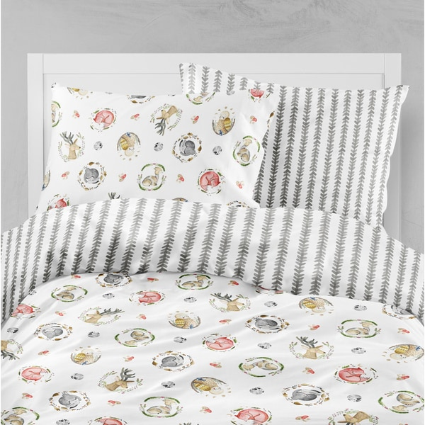 Oliver Gal Signature Collection Woodland Critters Duvet