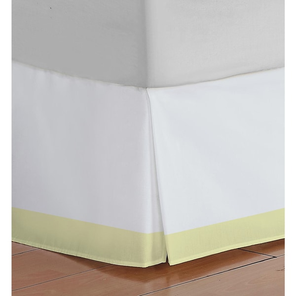 Oliver Gal Signature Collection White & Yellow Bedskirt