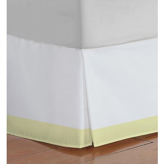 Oliver Gal Signature Collection White & Yellow Bed Skirt