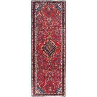 eCarpetGallery Lilihan Red Wool Hand-knotted Runner Rug (3'3 x 9'8)