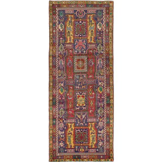 eCarpetGallery Ardabil Multicolor Wool Hand-knotted Runner Rug (4'3x10'7)