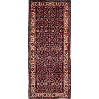 eCarpetGallery Blue Wool Hand-knotted Rug (4'2 x 10')