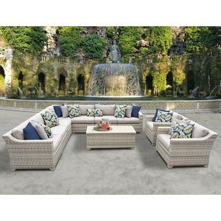 Fairmont 10 Piece Outdoor Wicker Patio Furniture Set 10a