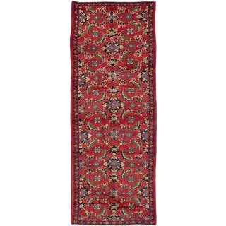 eCarpetGallery Hand-knotted Persian Vintage Red Wool Rug (3'5 x 9'6)