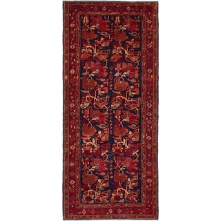 eCarpetGallery Sarab Blue/Red Wool Hand-knotted Runner Rug (4'5 x 10'5)
