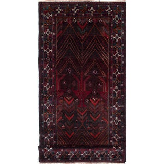 eCarpetGallery Hand-knotted Persian Vintage Red Wool Rug - 4'5x10'1