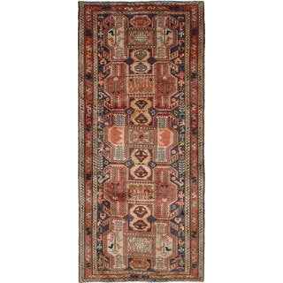 eCarpetGallery Ardabil Blue/Brown Wool Hand-knotted Rug (4'6 x 10'2)