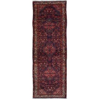 eCarpetGallery Koliai Blue Wool Hand-knotted Rug (3'6 x 10'4)