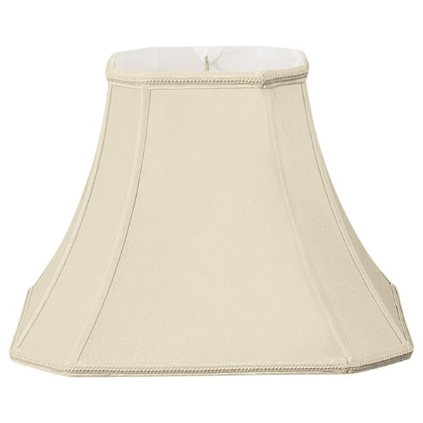 Royal Designs Square Cut Corner Designer Lamp Shade, Beige, 5 x 10 x 8.75