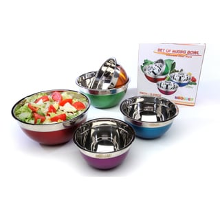 Koolulu 5 PC Multi Colored Mixing Bowls