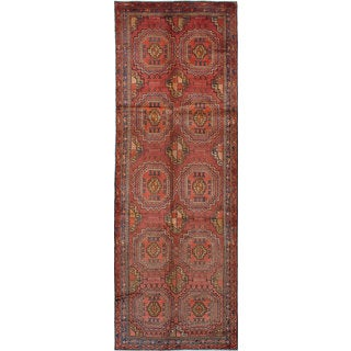 eCarpetGallery Brown Wool Hand-knotted Rug (4'4 x 13'0)