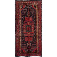 eCarpetGallery Koliai Blue/Red Wool Hand-knotted Rug - 5' x 10'5