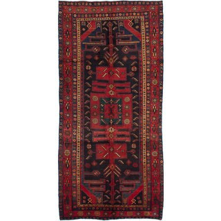 eCarpetGallery Koliai Blue/Red Wool Hand-knotted Rug (5' x 10'5)