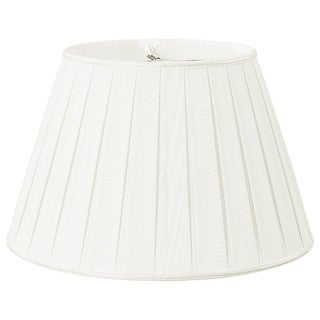 Royal Designs Round Pleated Designer Lamp Shade, White, 11 x 18 x 12