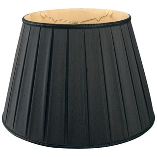 Royal Designs Round Pleated Designer Lamp Shade, Black 11 x 18 x 12