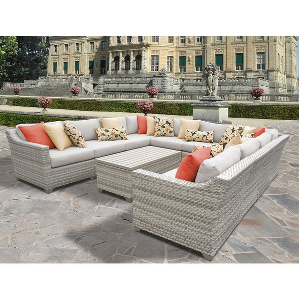 Fairmont Patio Furniture.Shop Fairmont 11 Piece Outdoor Wicker Patio Furniture Set 11a Free