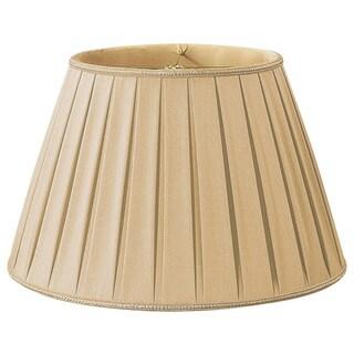 Royal Designs Round Pleated Designer Lamp Shade, Gypsy Gold, 10.5 x 16 x 11