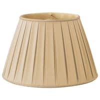 Royal Designs Round Pleated Designer Lamp Shade, Gypsy Gold, 10 x 14.5 x 10