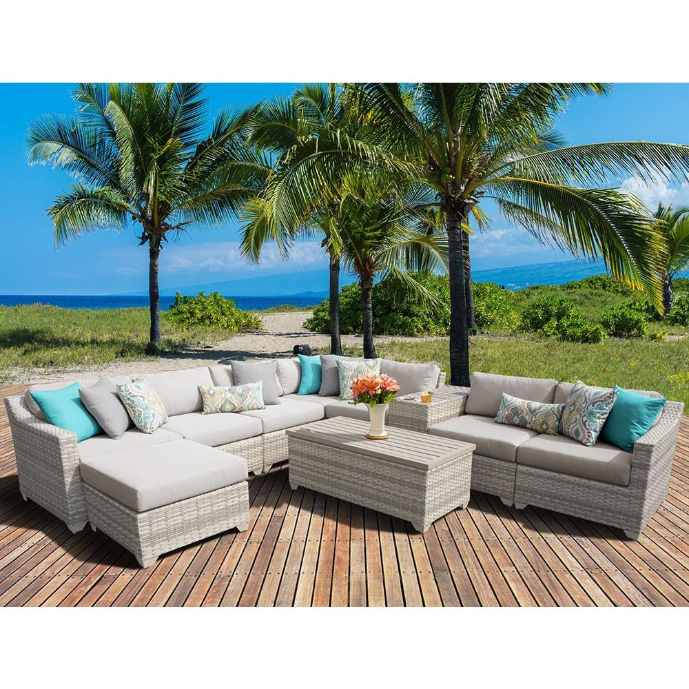 Fairmont 10 Piece Outdoor Wicker Patio Furniture Set 10b (Size)