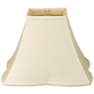 Royal Designs Square Empire Patterned Designer Lamp Shade, Cream 6.5 x 16 x 12