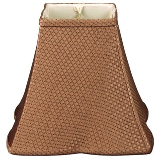 Royal Designs Square Empire Patterned Designer Lamp Shade, Brown 6.5 x 16 x 12