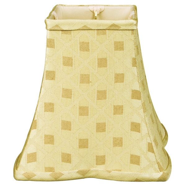 Royal Designs Square Empire Patterned Designer Lamp Shade, Gold, 6 x 14 x 11