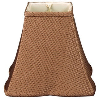 Royal Designs Square Empire Patterned Designer Lamp Shade, Brown 6 x 14 x 11