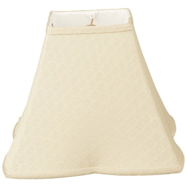 Royal Designs Square Empire Patterned Designer Lamp Shade, Beige, 6.5 x 16 x 12