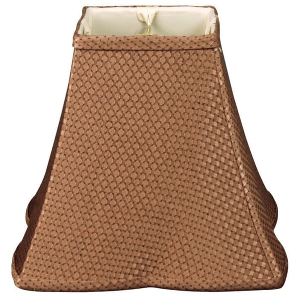 Royal Designs Square Empire Patterned Designer Lamp Shade, Brown 5.5. x 12 x 10