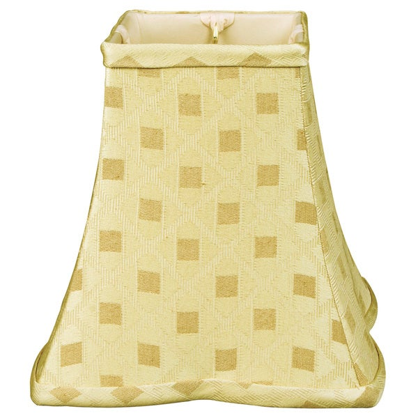 Royal Designs Square Empire Patterned Designer Lamp Shade, Gold, 5 x 10 x 9