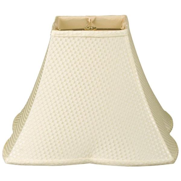 Royal Designs Square Empire Patterned Designer Lamp Shade, Cream 5.5. x 12 x 10
