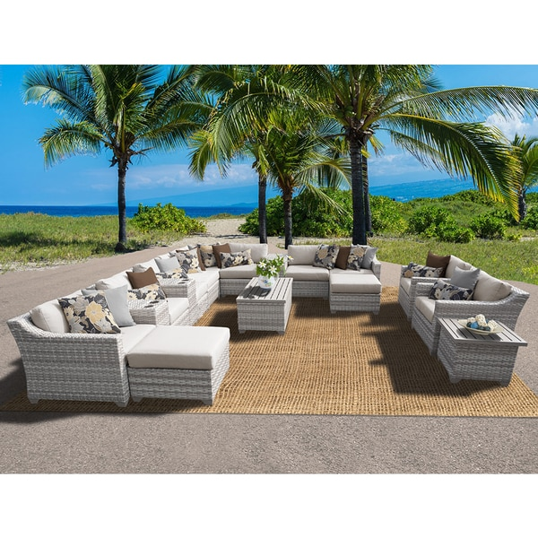 Fairmont Patio Furniture.Shop Fairmont 17 Piece Outdoor Wicker Patio Furniture Set 17a Free