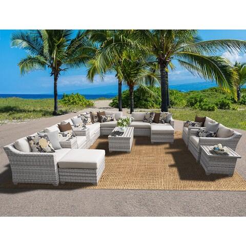 Fairmont 17 Piece Outdoor Wicker Patio Furniture Set 17a