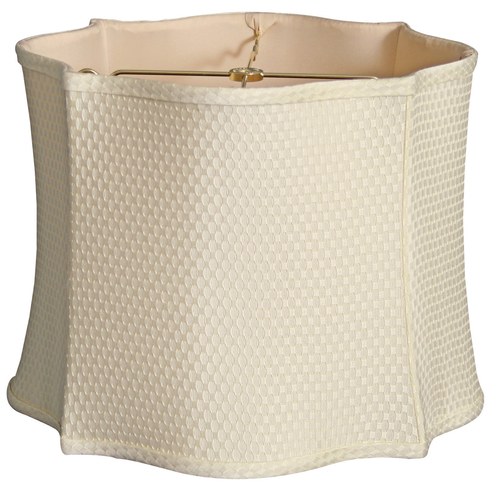 Shop Royal Designs Fancy Scalloped Square Designer Lamp Shade Cream 12 X 13 X 10 Overstock 15274702