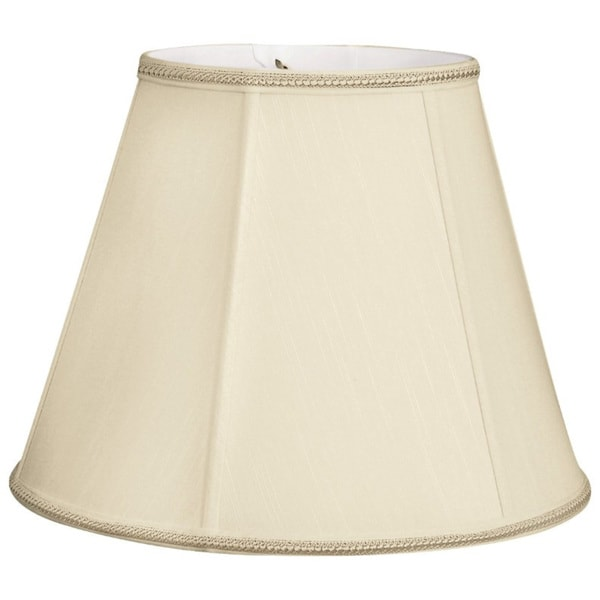 Royal Designs Empire Designer Lamp Shade, Beige, 9x16x12.25