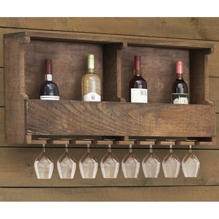 Carbon Loft Lawrence Reclaimed Wood Wine Rack