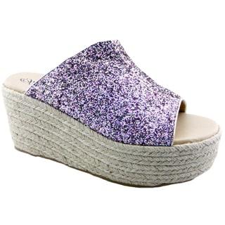 Penny Loves Kenny Women's Fickle Multicolor Platform Wedge Sandals