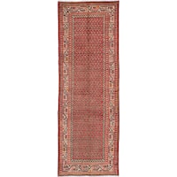 eCarpetGallery Hand-knotted Arak Red Wool Rug (3'4 x 9'11)