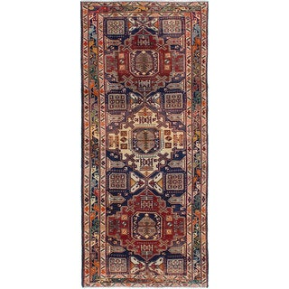 eCarpetGallery Meshkin Blue Wool Hand-knotted Rug (4'5x10'6)