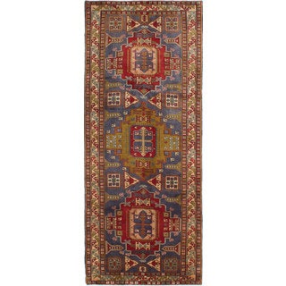 eCarpetGallery Hand-knotted Ardabil Blue/Red Wool Rug (4'2 x 10'2)